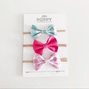 LITTLE POPPY CO Girl's Summer '16 Add-On Bow Set